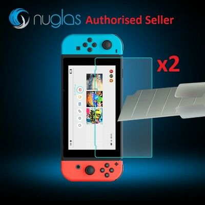 2x Nuglas Nintendo Switch Tempered Glass Screen Protector for Nintendo Switch