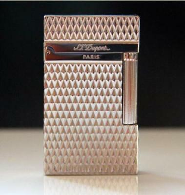 NEW S.T Dupont lighter Memorial brushed Bright Sound ! silvery lighter-