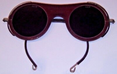 Vintage ca 1940s Industrial Steampunk OXWELD Safety Welding Goggles Glasses