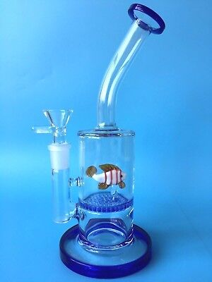 8.5 '' Blue Fish Glass Smoking Pipes Water Bongs Water Pipes Glass Bong Hookahs