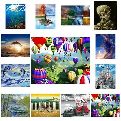 AU Canvas DIY Oil Painting by Number Kits Art Paint Pictures Home Wall Decors