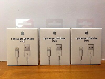 3X OEM Original Lightning USB Charger Cable for Apple iPhone 6 6S 7 X (1M/3ft)