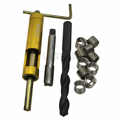 Thread Repair Kit M14 x 1.5 x 1.5D Stainless Steel Insert + Tap + Drill Bit Tool