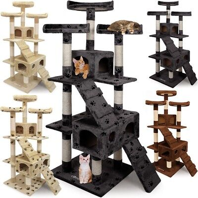 Large Kitten Cat Scratching Tree Post Activity Center Toy Bed Sisal Scratcher