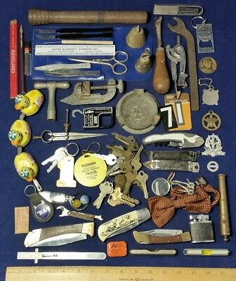Junk Drawer Lot Vintage to Now - 4.5 Pounds! Collectibles Stuff Tools Keys 9F