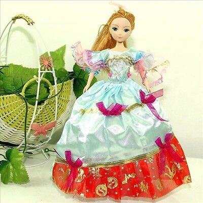 Handmade Party Dress Fashion Clothes For Barbie Doll Outfit Gown Wedding Rblue