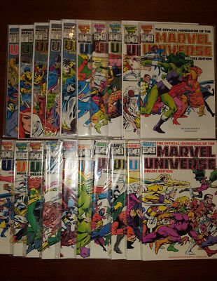 The Official Handbook of the Marvel Universe full set #1-20 (Vol. 2, 1985); NM