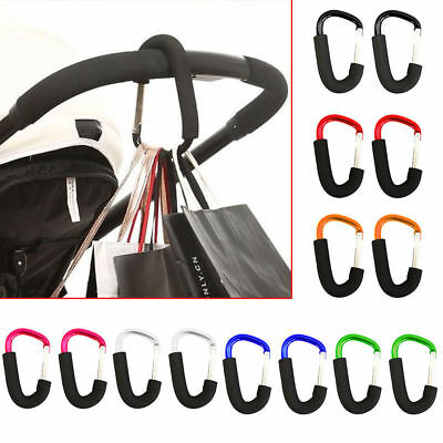 Strong Buggy Clips Large Pram Pushchair Shopping Bag Mummy Carry Hook Carabiner
