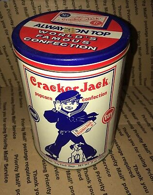 crackerjack popcorn confection collectable tin can