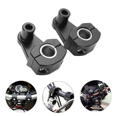 Motorcycle HandleBar Handle Fat Bar Mount Clamps Riser Universal 7/8'' 22mm-28^e