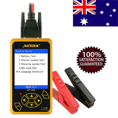 Autool BT-460 Battery Tester Lead-acid AGM Battery Analyzer For Car Truck AU