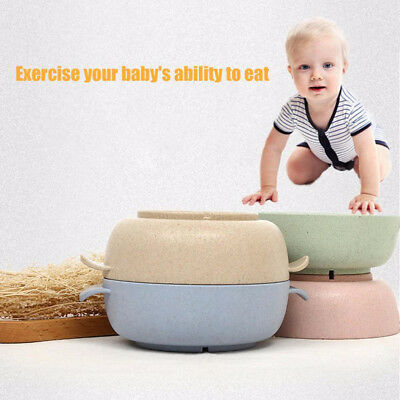 Eco-friendly Baby Feeding Bowl With Spoon Kids Home Dinner Eating Tableware Set
