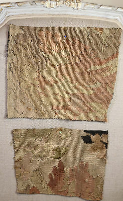 TWO Antique French Aubusson Tapestry Panels 17th Century