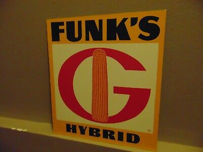 Funks Hybrid Metal Sign Seeds Farmer Tractor