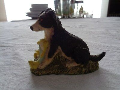 Border Collie Puppy With Doll Natures Heritage By Holland Studio Figurine