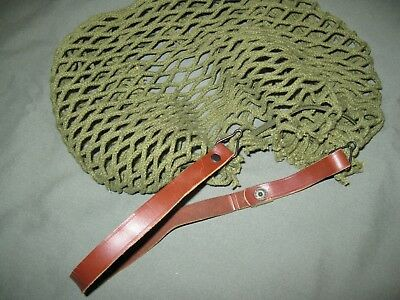 U.S. Army Leather Helmet Chin Strap & Net Helmit Cover