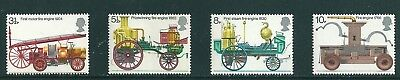 1974 - GB Fire Engines Set of 4 Commemorative Stamps SG 950/3 MNH