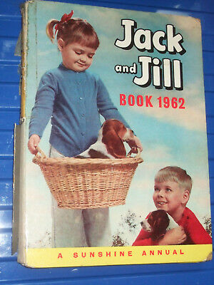 Jack And Jill 1962  Annual Vintage Children's Book Childs Book