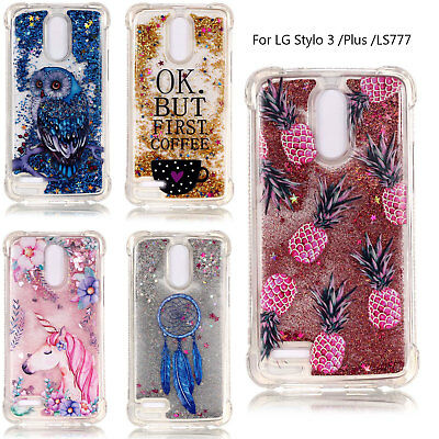 For LG Stylo 3 /Plus /LS777 Shockproof Cover Glitter Liquid Quicksand Soft Case