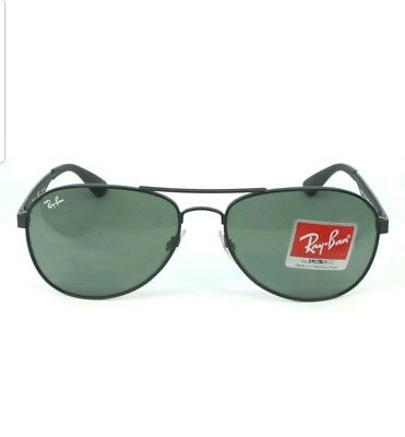 Ray-Ban RB3549 New Authentic Aviator Sunglasses 006/71 Black 56mm 14mm 135mm
