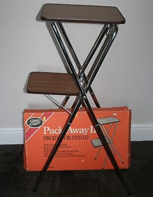 Boots Pack Away II Film / Slide Projector Stand Second Table For Slide Cases etc