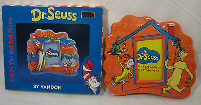 (Set of 2) Dr. Seuss Picture Frames - Cat in the Hat & Green Eggs & Ham Themed