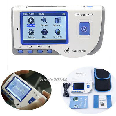 Heal Force Color LCD 180B Handheld Portable ECG Machine EKG Monitor Health Care