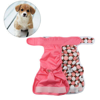 2*Washable Female Dog Diapers Pet Cat Reusable Sanitary Physiological Pant