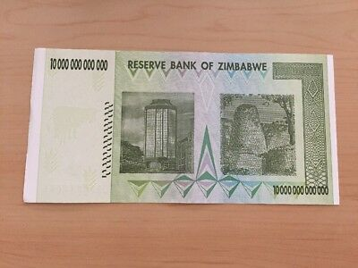 MAKE OFFER~1 Zimbabwe 10 Trillion Dollars($) AA 2008 AUNC~LIMITED TIME OFFER~