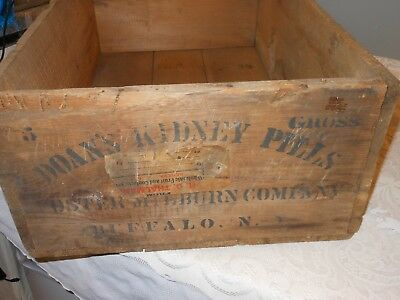 Antique Patent Medicine Apothecary Wooden Crate Foster Milburn Co Buffalo NY