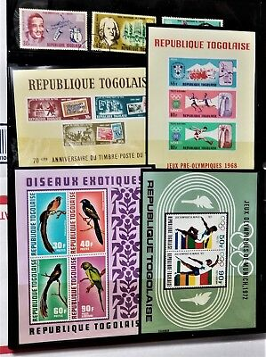 Small TOGO Stamp Collection with 5 Souvenir Sheets Used or MH