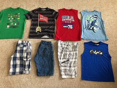 Lot of 8 pieces of Boy's Summer Clothes size 18 XXL 2X Shorts tank top shirt