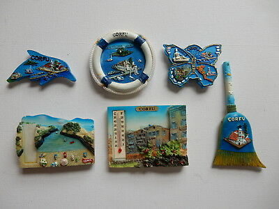 One Selected 3D Souvenir Fridge Magnet from Corfu