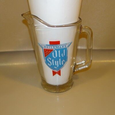 Heileman's Old Style Glass Beer Pitcher