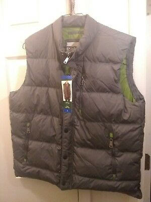 Orvis Essex Down Puffer Vest Jacket Mens Large Duck Coat Gray NWT