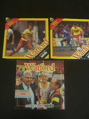 Watford v Chelsea 1986/87 FA Cup 4th Round Official Football Programme