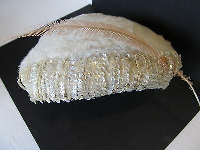 WWII Vintage Ladies Hat Faux Fur, Very Cute/Collectible and Well Made
