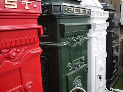 Victorian Deluxe Floor Standing Cast Aluminium Mail Box, Post Box, Ideal Wedding