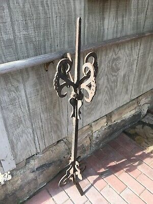 Antique Cast Iron Roof Finial Lightning Rod Weathervane Architectural Salvage