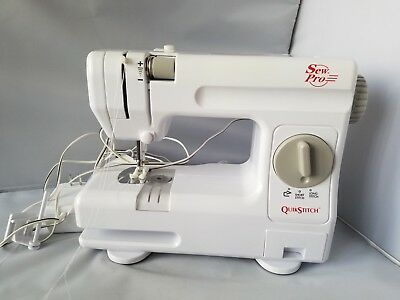 SEW PRO QUICK Stitch Compact Portable Sewing Machine Foot Control Adorable Quick Sewing Machine