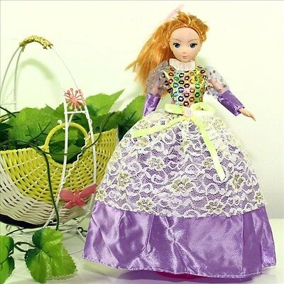 Handmade Party Dress Fashion Clothes For Barbie Doll Outfit Gown Wedding Purple