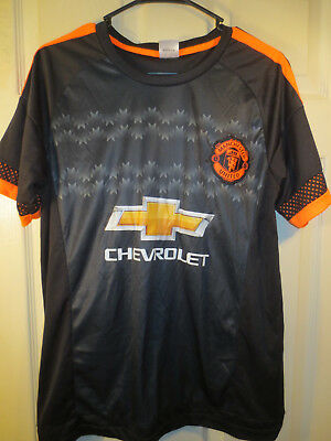 on sale a37fc 9bfe6 MANCHESTER UNITED CHEVROLET #9 Black Away Shirt Jersey Size Medium