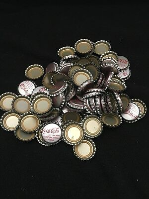 100 Silver Coca-Cola Coke Bottle Caps -Never Used- NOS