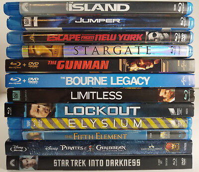 Action/ Sci-Fi Blu-ray 12 movie Lot Fifth Element Elysium Limitless + More