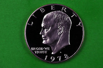 1978-S Deep Cameo GEM Proof  Eisenhower US One Dollar Coin  (C/N Clad)