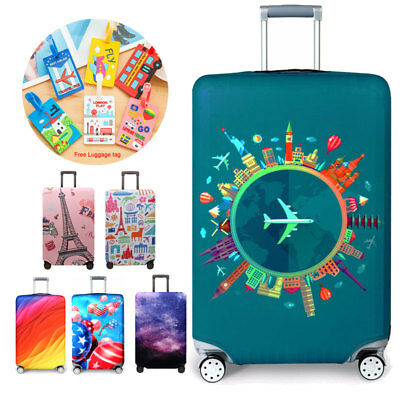 18-32 inch Thick Elastic Luggage Cover Suitcase Dust Cover Protector + Free Tag
