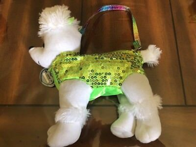 SPARKLY PUPPY DOG CARRY BAG / PURSE PLUSH by FADED GLORY