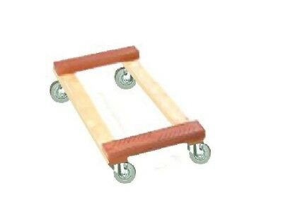 """Oak Movers Dolly 18"""" x 30"""" with Rubber End s Soft Rubber Casters & 800#"""