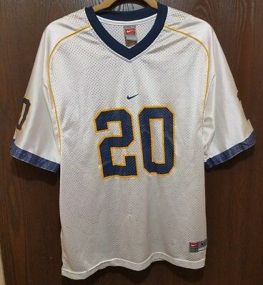 bb40e00bb96b Vintage NIKE White Michigan Wolverines  20 Football Jersey Youth XL 18-20