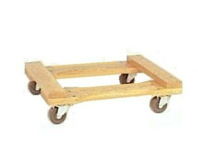 """Oak Medium Duty Movers Dolly 18"""" x 30"""" with Hard Rubber Casters 400#"""